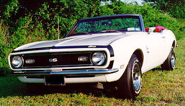 1968 Chevrolet Camaro SS convertible, front left view