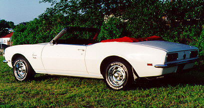 1968 Chevrolet Camaro convertible, left side view