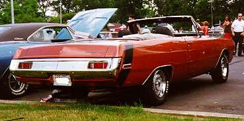 1971 Dodge Dart convertible, right rear view