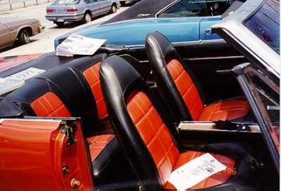 1971 Dodge Dart Convertible, interior view