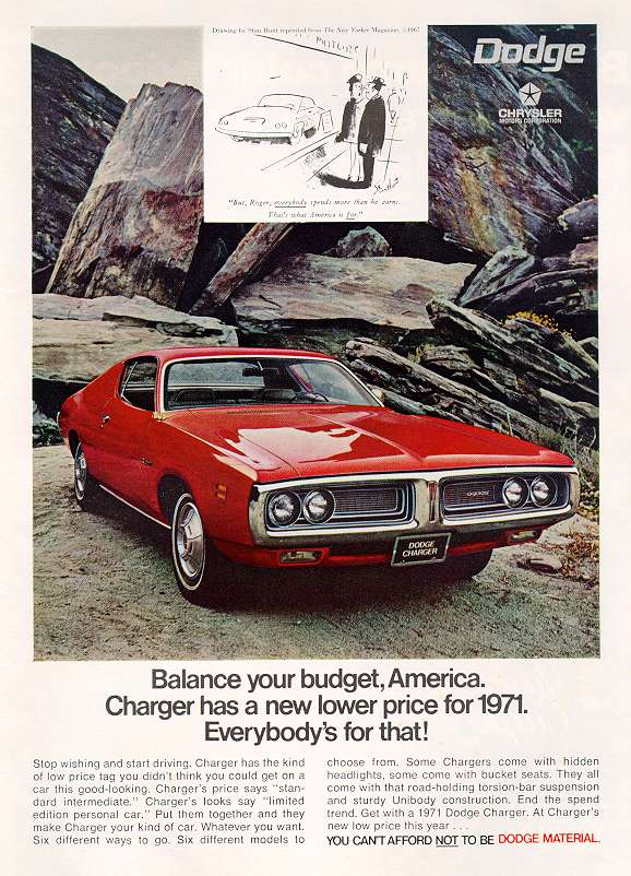 1971 Dodge Charger ad.jpg (103023 bytes)