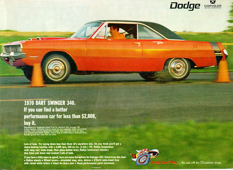 1970 dodge dart swinger 340 advertisement. Cars Review. Best American Auto & Cars Review