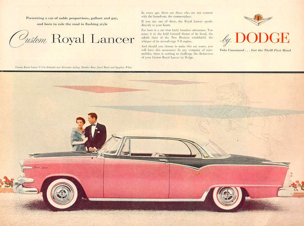1955 Dodge Custom Royal Lancer ad 1.jpg (95636 bytes)